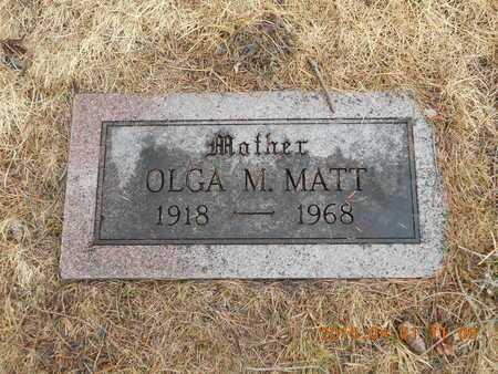 MATT, OLGA M. - Marquette County, Michigan   OLGA M. MATT - Michigan Gravestone Photos
