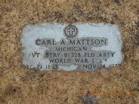 MATTSON, CARL A. - Marquette County, Michigan | CARL A. MATTSON - Michigan Gravestone Photos