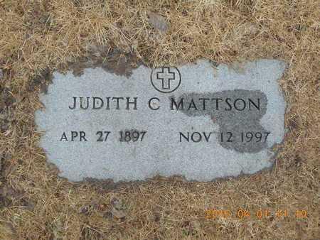 MATTSON, JUDITH C. - Marquette County, Michigan   JUDITH C. MATTSON - Michigan Gravestone Photos