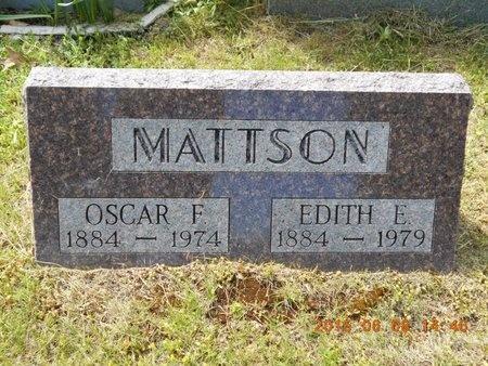 MATTSON, OSCAR F. - Marquette County, Michigan | OSCAR F. MATTSON - Michigan Gravestone Photos