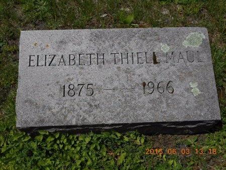 MAUL, ELIZABETH - Marquette County, Michigan | ELIZABETH MAUL - Michigan Gravestone Photos
