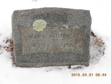 MAUNUS, MARY - Marquette County, Michigan   MARY MAUNUS - Michigan Gravestone Photos