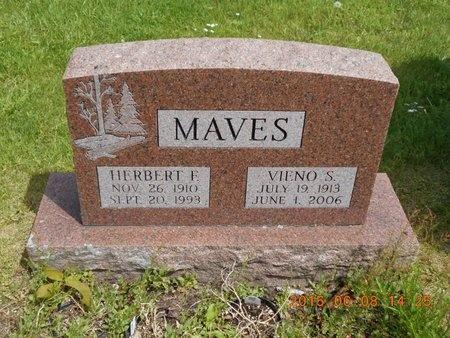 MAVES, HERBERT F. - Marquette County, Michigan | HERBERT F. MAVES - Michigan Gravestone Photos
