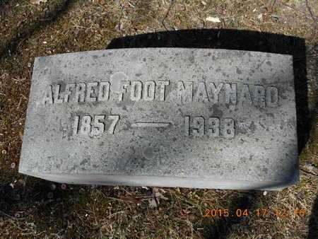 MAYNARD, ALFRED FOOT - Marquette County, Michigan | ALFRED FOOT MAYNARD - Michigan Gravestone Photos