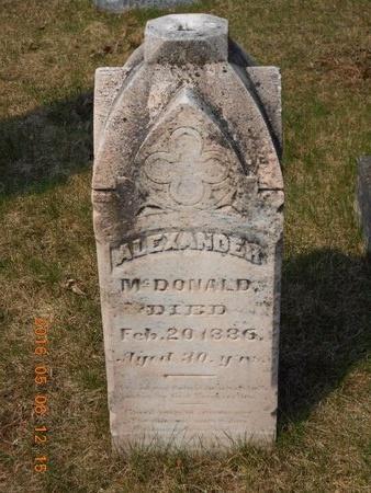 MCDONALD, ALEXANDER - Marquette County, Michigan | ALEXANDER MCDONALD - Michigan Gravestone Photos