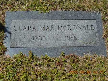 MCDONALD, CLARA MAE - Marquette County, Michigan | CLARA MAE MCDONALD - Michigan Gravestone Photos
