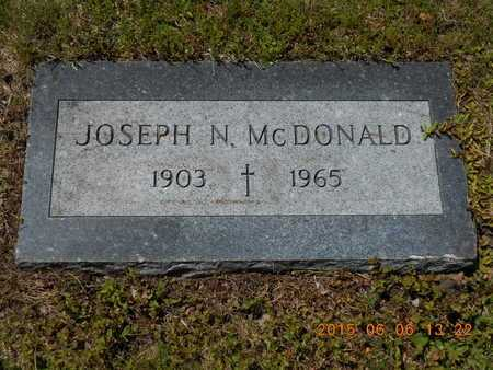MCDONALD, JOSEPH N. - Marquette County, Michigan   JOSEPH N. MCDONALD - Michigan Gravestone Photos