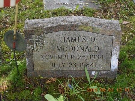 MCDONALD, JAMES D. - Marquette County, Michigan   JAMES D. MCDONALD - Michigan Gravestone Photos