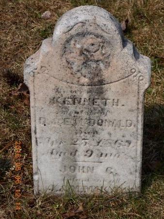 MCDONALD, KENNETH - Marquette County, Michigan   KENNETH MCDONALD - Michigan Gravestone Photos
