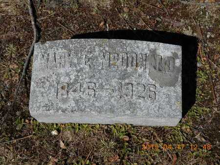 MCDONALD, MARY E. - Marquette County, Michigan | MARY E. MCDONALD - Michigan Gravestone Photos