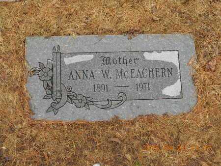 MCEACHERN, ANNA W. - Marquette County, Michigan | ANNA W. MCEACHERN - Michigan Gravestone Photos