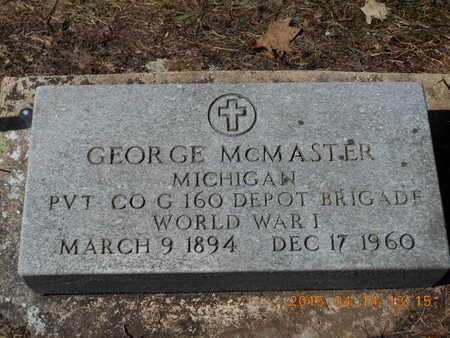 MCMASTER, GEORGE - Marquette County, Michigan | GEORGE MCMASTER - Michigan Gravestone Photos