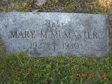 MCMASTER, MARY M. - Marquette County, Michigan   MARY M. MCMASTER - Michigan Gravestone Photos