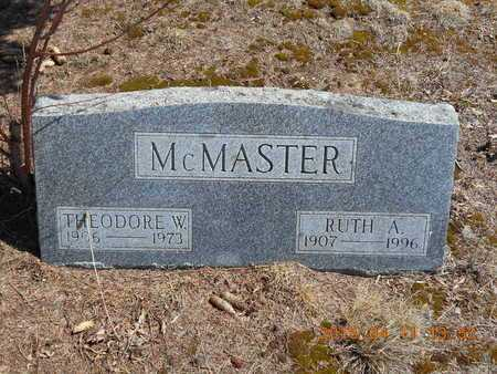 MCMASTER, THEODORE W. - Marquette County, Michigan | THEODORE W. MCMASTER - Michigan Gravestone Photos