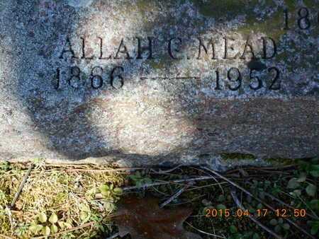 MEAD, ALLAH C. - Marquette County, Michigan   ALLAH C. MEAD - Michigan Gravestone Photos