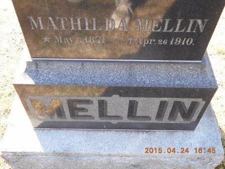 MELLIN, MATHILDA - Marquette County, Michigan   MATHILDA MELLIN - Michigan Gravestone Photos