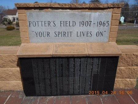 MEMORIAL, POTTERS FIELD - Marquette County, Michigan   POTTERS FIELD MEMORIAL - Michigan Gravestone Photos