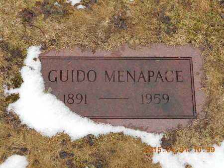 MENAPACE, GUIDO - Marquette County, Michigan | GUIDO MENAPACE - Michigan Gravestone Photos