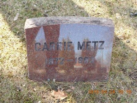 METZ, CARRIE - Marquette County, Michigan | CARRIE METZ - Michigan Gravestone Photos