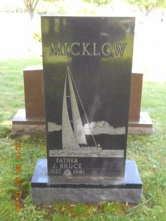 MICKLOW, J. BRUCE - Marquette County, Michigan | J. BRUCE MICKLOW - Michigan Gravestone Photos