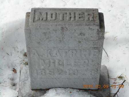 MILLER, A. KATRINE - Marquette County, Michigan | A. KATRINE MILLER - Michigan Gravestone Photos