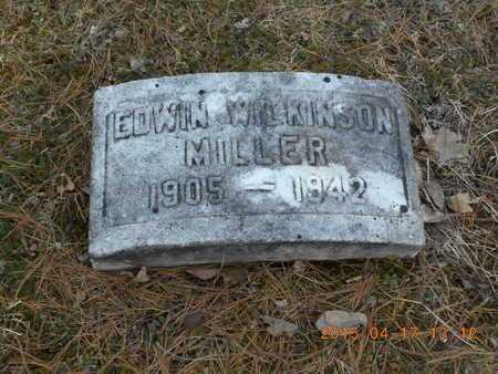 MILLER, EDWIN WILKINSON - Marquette County, Michigan   EDWIN WILKINSON MILLER - Michigan Gravestone Photos