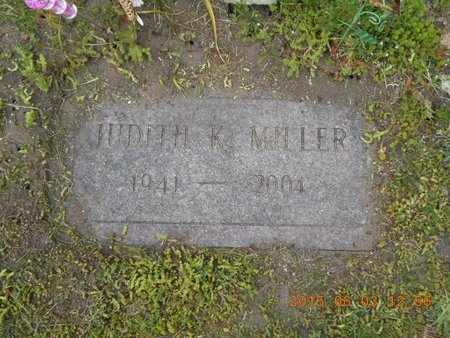 MILLER, JUDITH K. - Marquette County, Michigan | JUDITH K. MILLER - Michigan Gravestone Photos