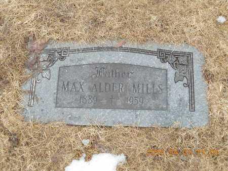MILLS, MAX ALDER - Marquette County, Michigan   MAX ALDER MILLS - Michigan Gravestone Photos