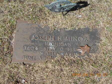 MINOR, JOSEPH H. - Marquette County, Michigan   JOSEPH H. MINOR - Michigan Gravestone Photos