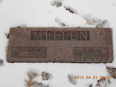 MITTEN, EDWARD W. - Marquette County, Michigan | EDWARD W. MITTEN - Michigan Gravestone Photos