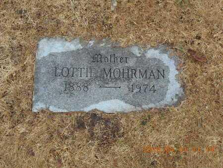 MOHRMAN, LOTTIE - Marquette County, Michigan   LOTTIE MOHRMAN - Michigan Gravestone Photos