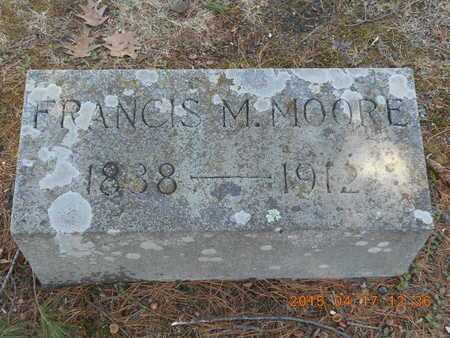 MOORE, FRANCIS M. - Marquette County, Michigan   FRANCIS M. MOORE - Michigan Gravestone Photos