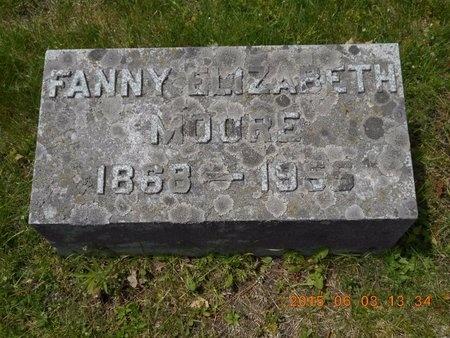 MOORE, FANNY ELIZABETH - Marquette County, Michigan | FANNY ELIZABETH MOORE - Michigan Gravestone Photos