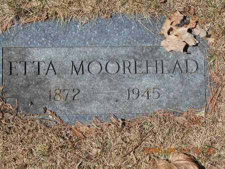 MOOREHEAD, ETTA - Marquette County, Michigan   ETTA MOOREHEAD - Michigan Gravestone Photos