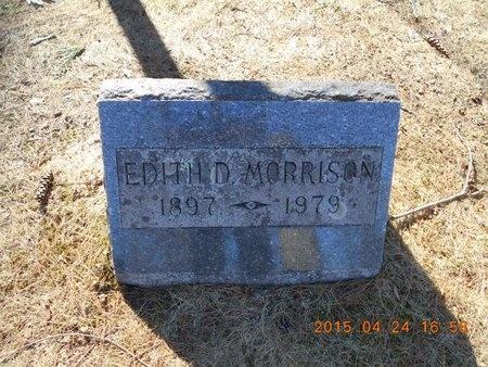 MORRISON, EDITH D. - Marquette County, Michigan | EDITH D. MORRISON - Michigan Gravestone Photos