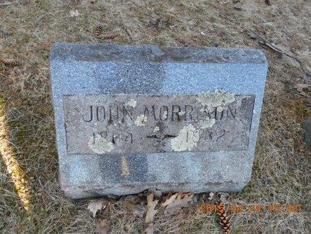 MORRISON, JOHN - Marquette County, Michigan   JOHN MORRISON - Michigan Gravestone Photos