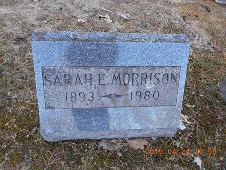 MORRISON, SARAH E. - Marquette County, Michigan | SARAH E. MORRISON - Michigan Gravestone Photos