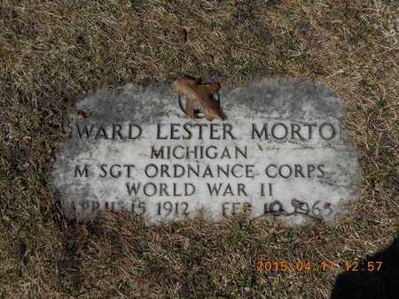 MORTON, EDWARD LESTER - Marquette County, Michigan   EDWARD LESTER MORTON - Michigan Gravestone Photos