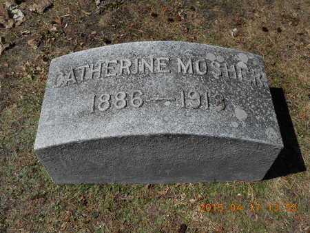 MOSHER, CATHERINE - Marquette County, Michigan   CATHERINE MOSHER - Michigan Gravestone Photos