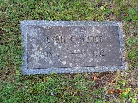 MUDGE, CYRIL G. - Marquette County, Michigan | CYRIL G. MUDGE - Michigan Gravestone Photos