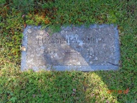 MUDGE, ELIZABETH V. - Marquette County, Michigan   ELIZABETH V. MUDGE - Michigan Gravestone Photos