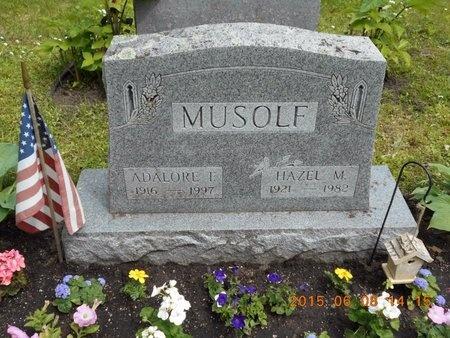 MUSOLF, HAZEL M. - Marquette County, Michigan   HAZEL M. MUSOLF - Michigan Gravestone Photos