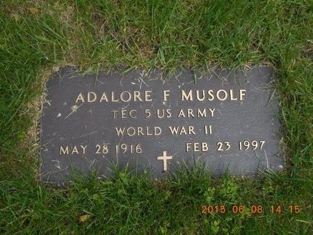MUSOLF, ADALORE F. - Marquette County, Michigan   ADALORE F. MUSOLF - Michigan Gravestone Photos