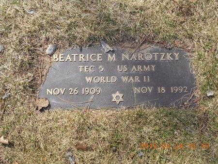 NAROTZKY, BEATRICE M. - Marquette County, Michigan | BEATRICE M. NAROTZKY - Michigan Gravestone Photos