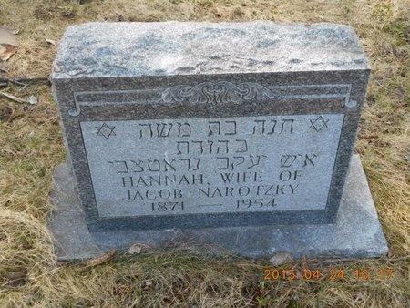 NAROTZKY, HANNAH - Marquette County, Michigan   HANNAH NAROTZKY - Michigan Gravestone Photos