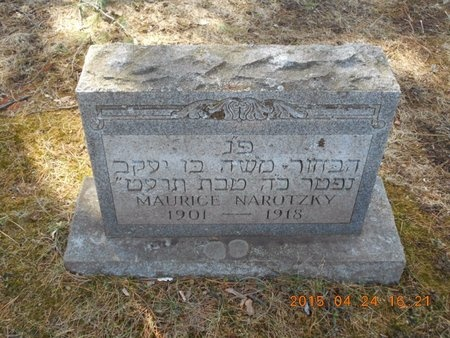NAROTZKY, MAURICE - Marquette County, Michigan | MAURICE NAROTZKY - Michigan Gravestone Photos