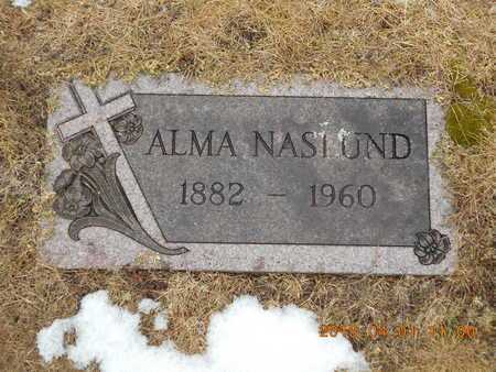 NASLUND, ALMA - Marquette County, Michigan   ALMA NASLUND - Michigan Gravestone Photos