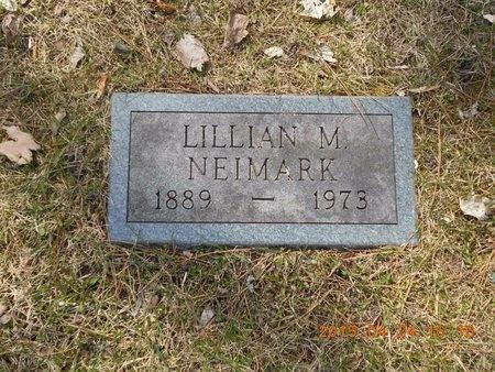 NEIMARK, LILLIAN M. - Marquette County, Michigan   LILLIAN M. NEIMARK - Michigan Gravestone Photos