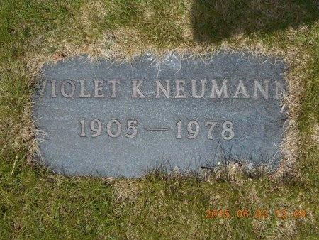 NEUMANN, VIOLET K. - Marquette County, Michigan   VIOLET K. NEUMANN - Michigan Gravestone Photos