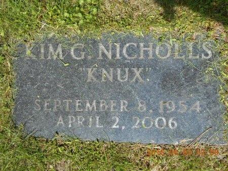 NICHOLLS, KIM G. - Marquette County, Michigan   KIM G. NICHOLLS - Michigan Gravestone Photos